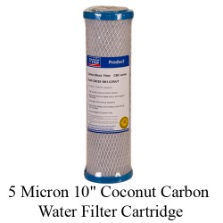 5 Micron 10 inch Coconut Carbon Water Filter Cartridge