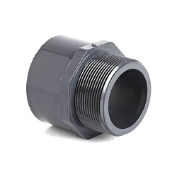 PVC Imperial Plain/Threaded Male Adaptor