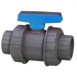 "3"" era double union pvc ball valve epdm o-rings"