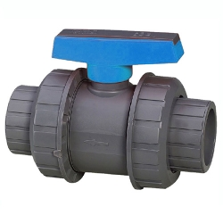 "2"" era double union pvc ball valve epdm o-rings"