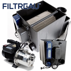 filtreau drum filter (25m3 /hr) inc 40w amalgam (pumped)