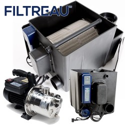 filtreau drum filter inc 40w amalgam & cleaning pump(gravity)