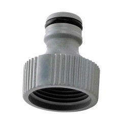 Hose pipe clunk-click connector female thread