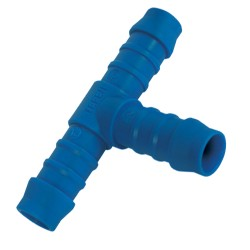 Tefen Blue Nylon Barbed Hose Tee Connector