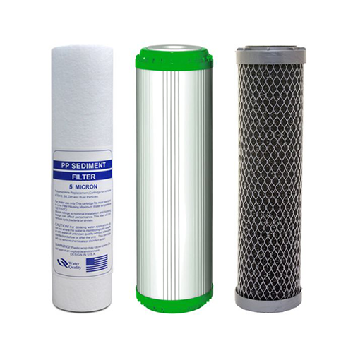 "10"" Block Activated Carbon cartridge 'Silver Series' Set"